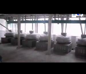 7台石磨制粉机组